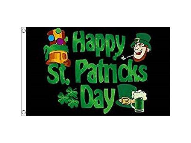 HAPPY ST PATTY/'S DAY 3x5 Flag Polyester
