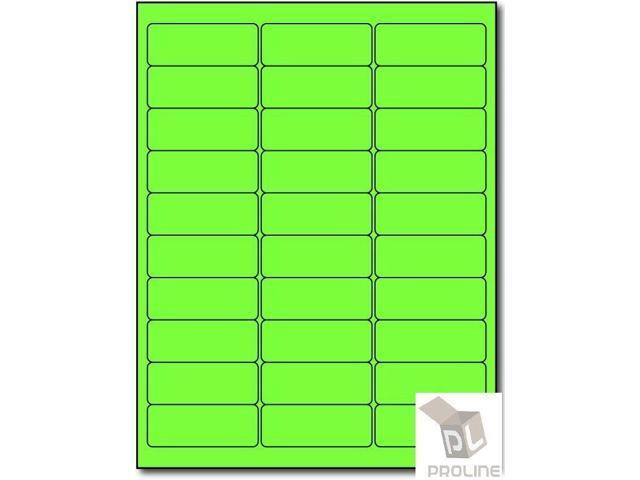3000 Address Labels Amazon FBA 30 Per Sheet 30UP 2 625''x1'' Fluorescent  Green - Newegg com