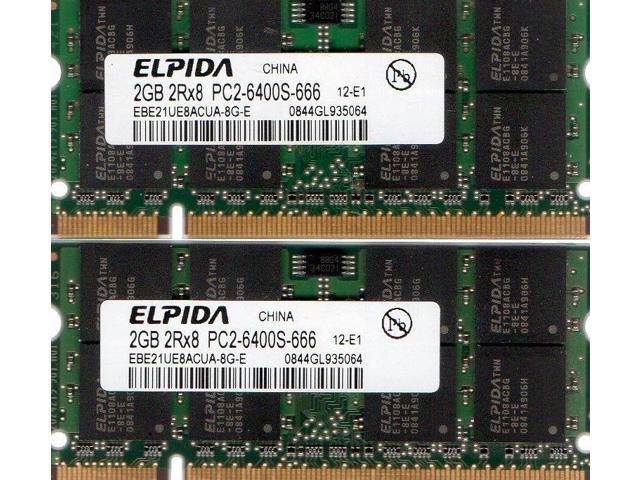 4GB 2x 2GB Toshiba Satellite L500 L505 L505D L515 L550 L555 L555D DDR2 Memory