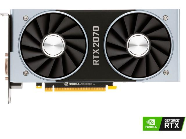 NVIDIA - GeForce RTX 2070 Founders Edition 8GB GDDR6 PCI Express 3 1  Graphics    - Newegg com
