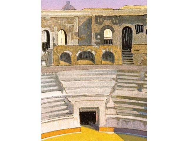 Vintage Style Travel Poster 1926 Nimes France Amphitheater 24x36