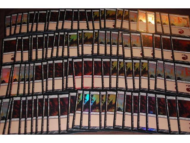 ***50x FOIL Mountain*** MINT Fire /& Lightning MTG Magic Card Collection