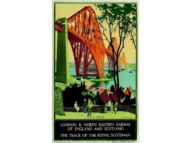 Forth Bridge Great Britain Vintage Travel Advertisement Poster Picture Print