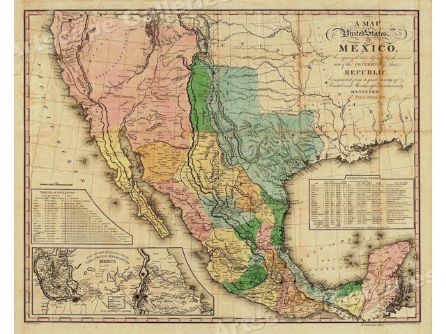 1846 Map of the United States of Mexico - American ...