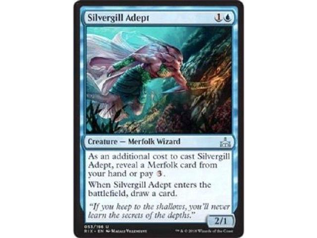 SILVERGILL ADEPT x4 4x Magic the Gathering Rivals of Ixalan MTG