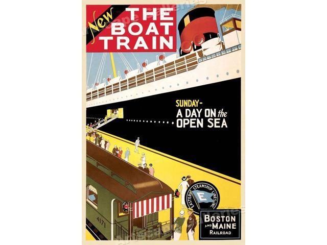 "1925 Boston /& Maine RR /""The Boast Train/"" Vintage Style Travel Poster 16x24"