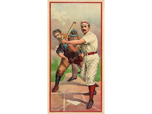 """12x12 1895 Vintage Baseball Sports Poster /""""Batter Up!/"""""""