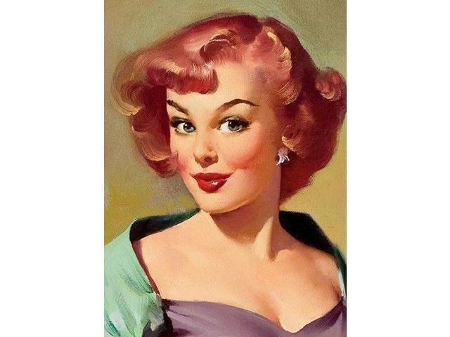 "24x30 1950/'s RedHead Elvgren PinUp Girl Slingshot Poster /""It/'s a Snap/"""