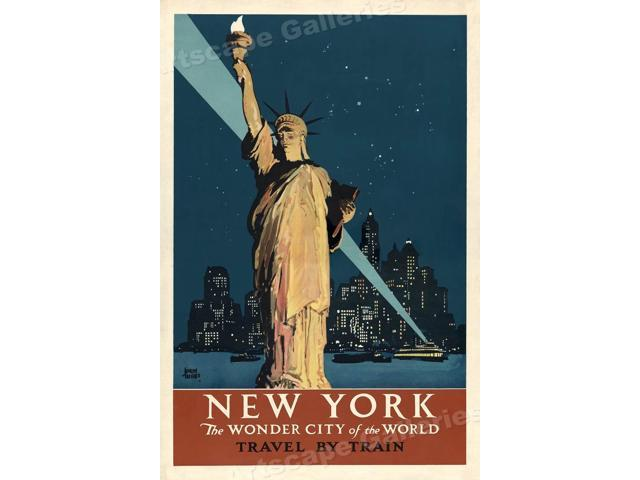 24x36 New York Central Building Park Avenue 1930s Vintage Style Travel Poster