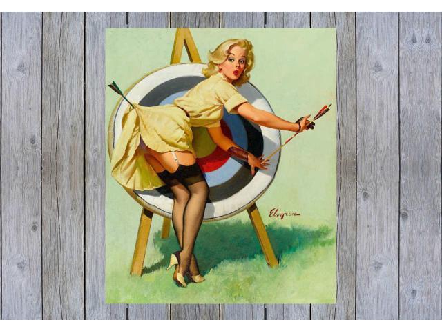 A Near Miss Gil Elvgren Vintage Pinup Girl Poster