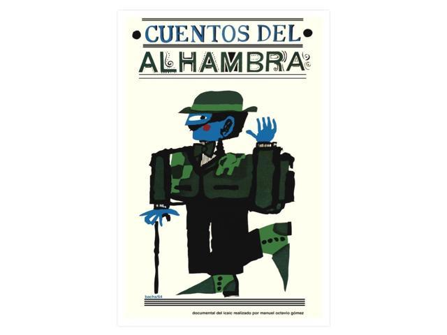 "Movie Poster for film/""ALHAMBRA Stories/""Spain art.Decorative design.Spanish."