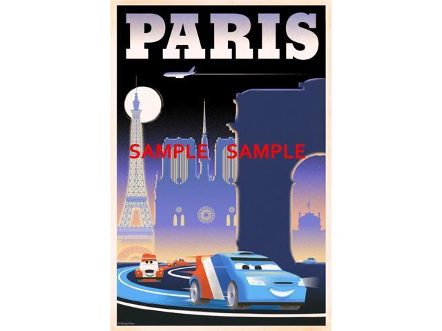 "Pixar Disney Cars 2 Paris 8.5/"" x 11/""  movie Poster"