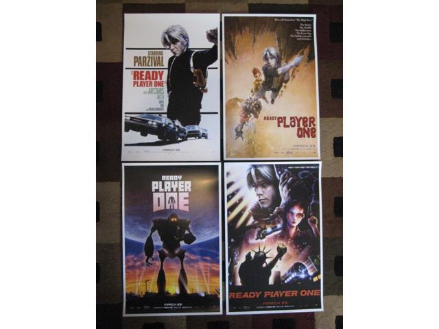 "Set of 4 Movie Collector/'s Poster Prints - 11/"" x 17/"" Ready Player One"