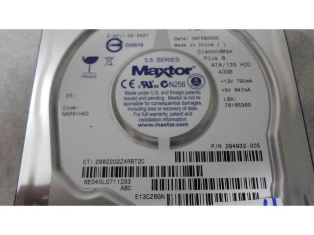 Maxtor HP 294932-005 286692-001 78165360 40GB 7200 RPM ATA Hard Drive