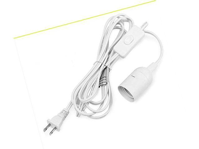 6ft Long E26 LED Grow Light Bulb Socket to 2-Prong US AC Power Cord Adapter  with - Newegg com