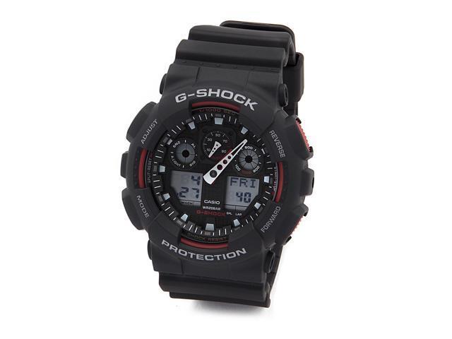 Casio G Shock Black Red Resin Strap Mens Sport Watch Ga100 1a4 Newegg Com