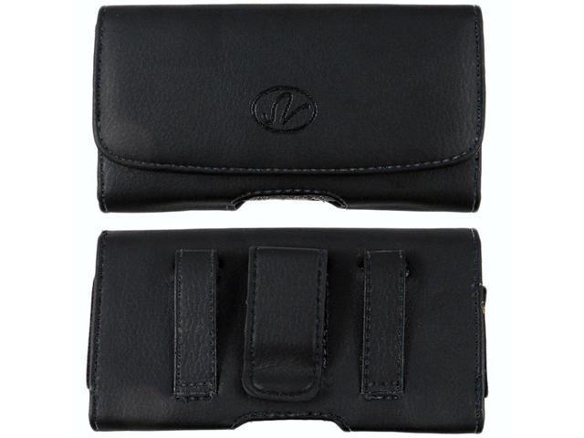 Leather Sideways Belt Clip Case Pouch for Consumer Cellular Doro Phone Easy  618 - Newegg com