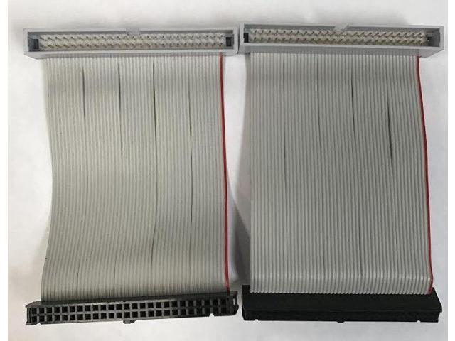 "Female SCSI FC-50P Lot of 2 Apple 50 Pin SCSI Cable M//F 3.5/"" Male"
