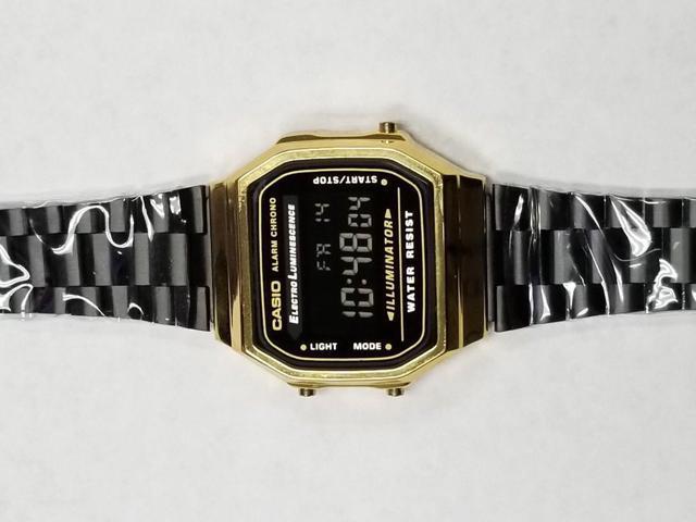 47d78631a47b Refurbished  Casio watch Illuminator Alarm Chrono  3298 A168 Black ...