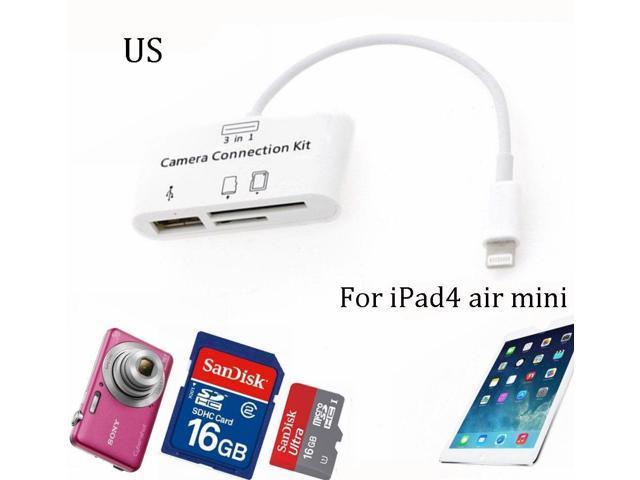 For IPad IPHONE 8Pin Camera Connection Kit USB Card Reader SD MicroSD IOS  12 11 - Newegg com
