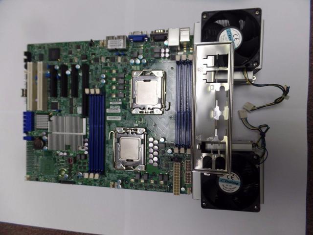 Refurbished: Super Micro X8DTL-iF, LGA 1366,, ATX with 2 x Xeon L5640, I/O  Shield and fans - Newegg com