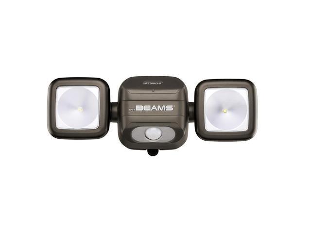 Mr Beams Mbn3000 Brn Netbright Twin Head Led Motion Sensor