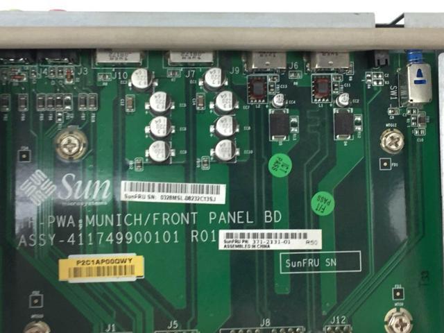 Sun Ultra 20 I//O Front Panel Assembly Board 371-2131