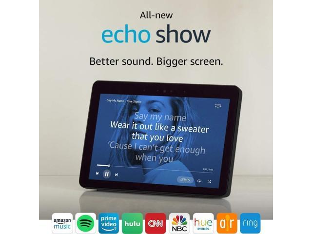 Amazon Echo Show (2nd Gen) 2018 model 10.1 HD screen BLACK CHARCOAL