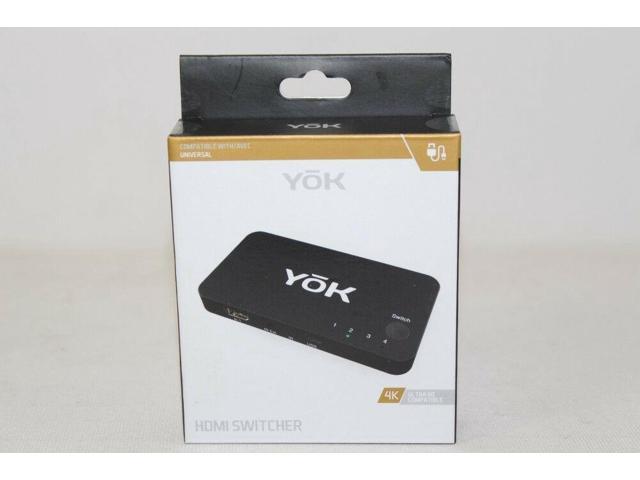 YoK HDMI Switcher 4K Ultra HD Compatible Universal 4 Input/ 1 Output -  Newegg com