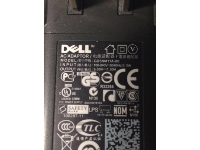 Authentic Dell Streak 5//7 Home//Wall Charger GD5NM11A-00 5V 1.0A