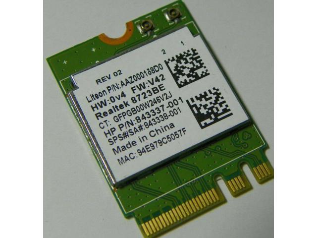Used - Like New: HP OEM 843338-001 Realtek RTL8723BE 802 11bgn BT NGFF mini  P/N 843337-001 - Newegg com