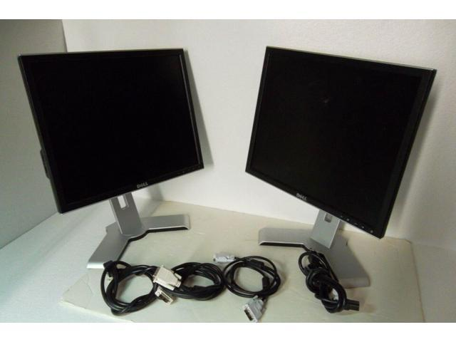 LOT OF 2 Dell E1713S LED LCD Monitor GOOD CONDITION SCREEN w//vga /& power cables