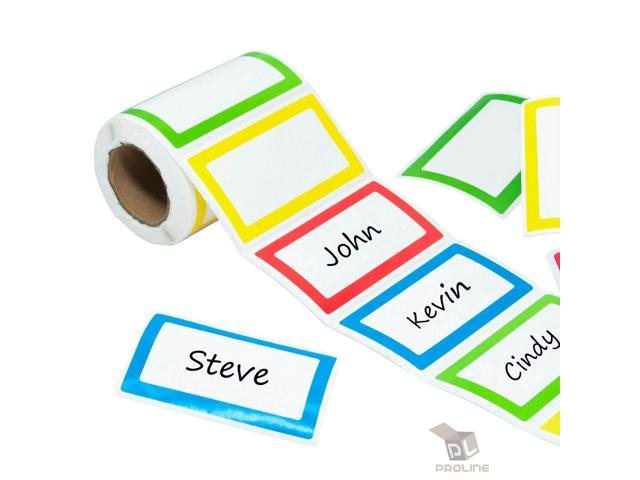 500 - Colorful Name Tag Self-Adhesive Labels Stickers School Office Camps  Party - Newegg com