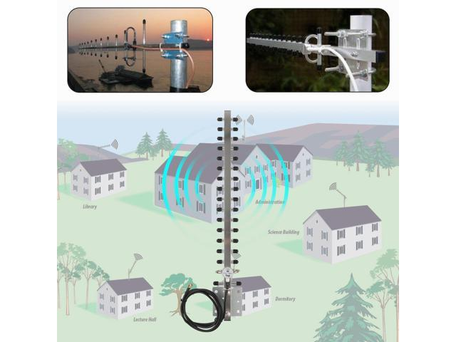 RP-SMA 2 4GHz 25dBi Directional Outdoor Wireless Yagi Antenna WiFi for  Router VP - Newegg com