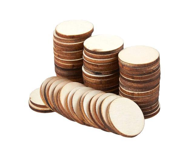 Unfinished Wood Slices 60 Count Round Natural Rustic Wood Circles Wooden Log Slices For Diy Craft Wedding Decoration Home Decorcenterpieces