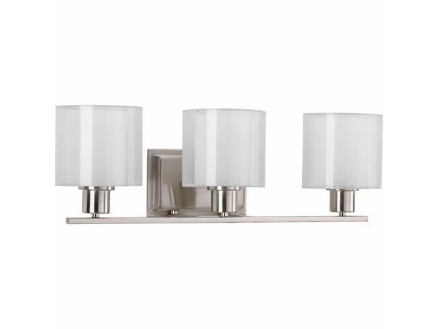 Progress Lighting P2079 Invite 3 Light Bathroom Vanity Light with Mylar  Shades - Newegg com