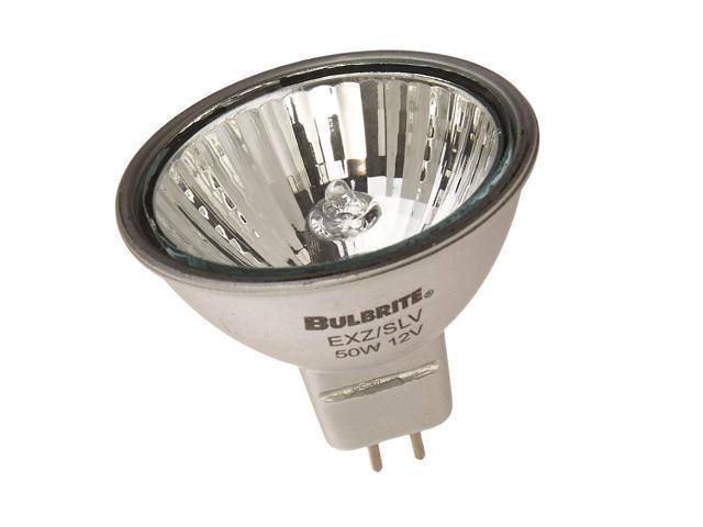 Bulbrite EXN//SLV 50-Watt 12-Volt Halogen MR16 Bi-Pin Silver Flood