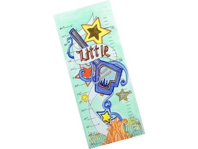 The Kids Room by Stupell Little Rock Star Growth Chart 7 x 0.5 x 39 Proudly Made in USA gc-51