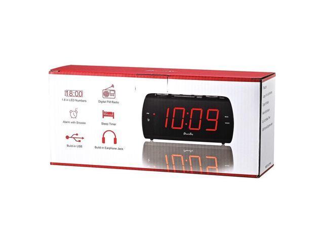 Ear... DreamSky Digital Alarm Clock Radio with USB Charging Port and FM Radios