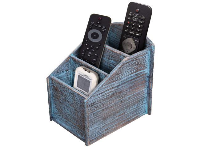 Rustic 3 Slot Wooden Remote Control