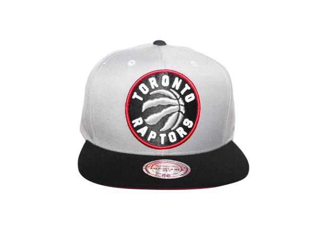 6e10ebba6f288 Grey, Black and Red NEW Toronto Raptors Full Logo Mitchell and Ness  Snapback Hat