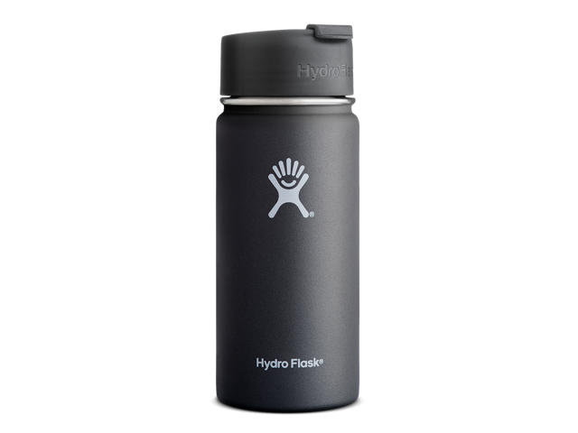 Hydro Flask 16 oz Vacuum Insulated Stainless Steel Water Bottle, Wide Mouth  w/Hydro Flip Cap, Black - Newegg com