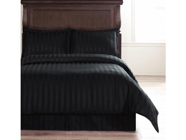 Size Black 4 Piece Reversible Duvet