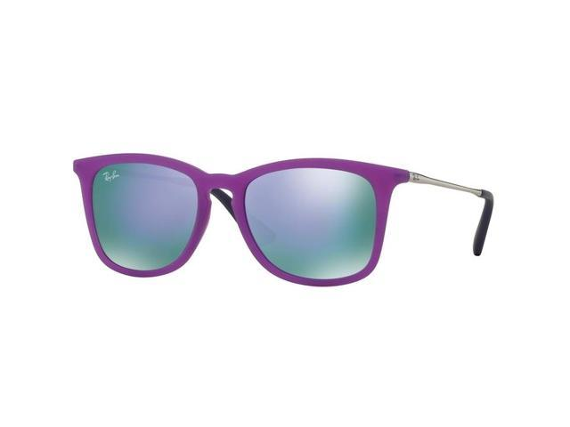 1953a0749b5 Ray-Ban 0RJ9063s Square Sunglasses for Unisex - Size - 48 (Grey Mirror  Violet