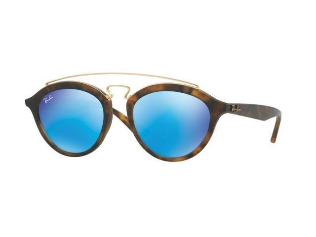 9f8a5aa3740 Ray-Ban 0RB4257F Phantos Womens Sunglasses - Size 51 (Light Green Mirror  Blue