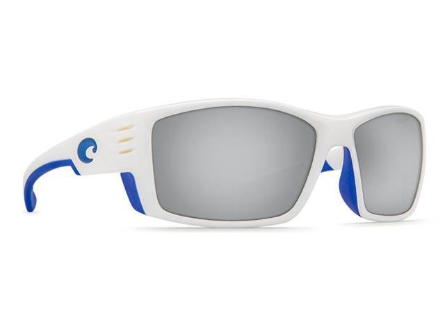 ad92cbf4424 Costa Del Mar Cortez White W Blue Logo Sunglasses Silver Lens 580P