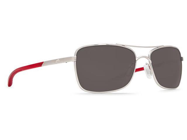 12deaa0b1aab1 Costa Del Mar Palapa Palladium With Crystal Red Temples Sunglasses Grey  Lens 580P