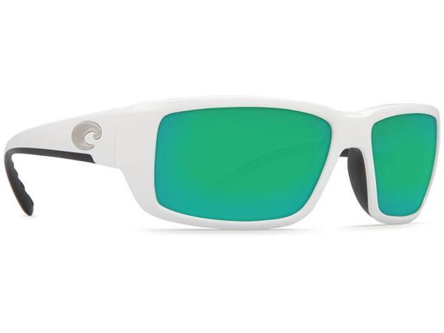 c2a766ca45 Costa Del Mar Fantail White Square Sunglasses Green Lens 580G ...