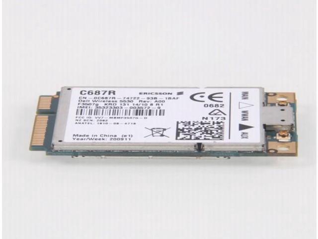 3G HSPA WWAN Card 5530 c687r for Dell E6400 E6500 Silver - Newegg com