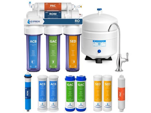 Express Water Reverse Osmosis Water Filtration System – 5 Stage RO Water  Purifier with Faucet and Tank – Under Sink Water Filter – plus 4